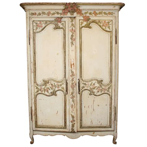 painted wardrobe armoire painted french wedding armoire at 1stdibs