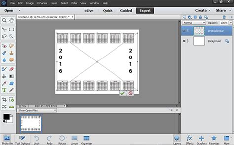 how to make a calendar template in photoshop create a custom photo calendar in photoshop elements dummies