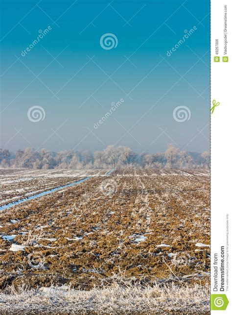 Frozen Sky Blue frozen field in kyrgyzstan stock photo image 49267006