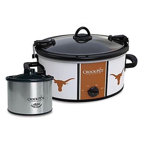 bed bath beyond crock pot university of texas crock pot 174 cook carry slow cooker