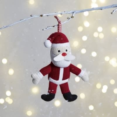 knitted father christmas decoration the little white