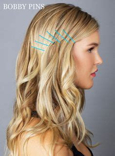 hairstyles using bobby pins 1000 images about beleza on bobby pins lazy