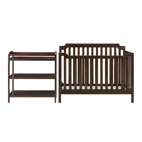 Crib With Changing Table Combo Baby Relax Kypton 3 1 Convertible Crib With Changing Table Combo Set Espresso Ebay