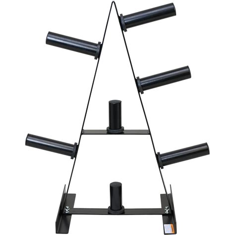 mirafit 2 quot olympic weight plate storage rack 7 post