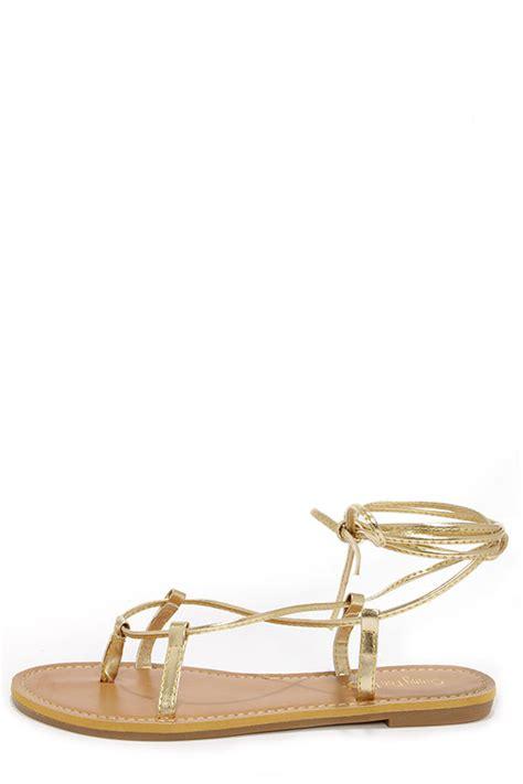 leg wrap sandals gold sandals leg wrap sandals 15 00
