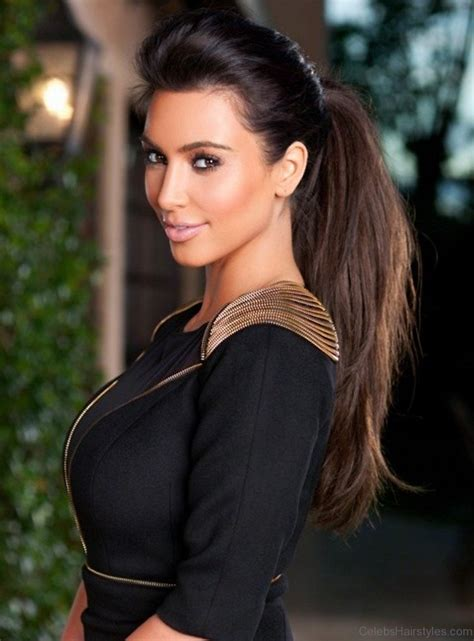 pony hairstyles for oval face 55 elegant hairstyles of kim kardashian