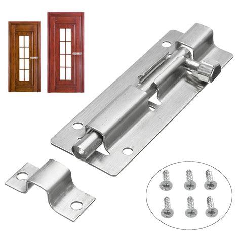 sliding door latch door bolt sliding latch satin aluminium barrel lock catch