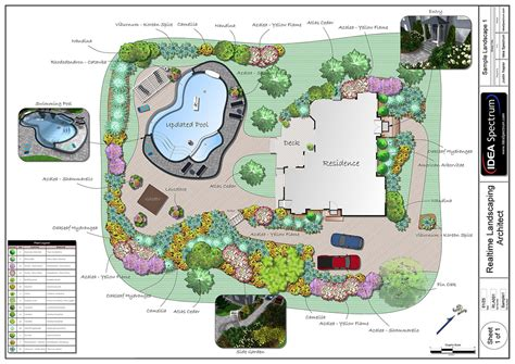 Landscape Design Plans Backyard by Landscape Design Software By Idea Spectrum Realtime Landscaping Architect Features