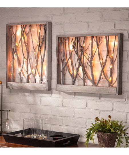 wood branches home decor 20 led micro string wood branch wall art set zulily