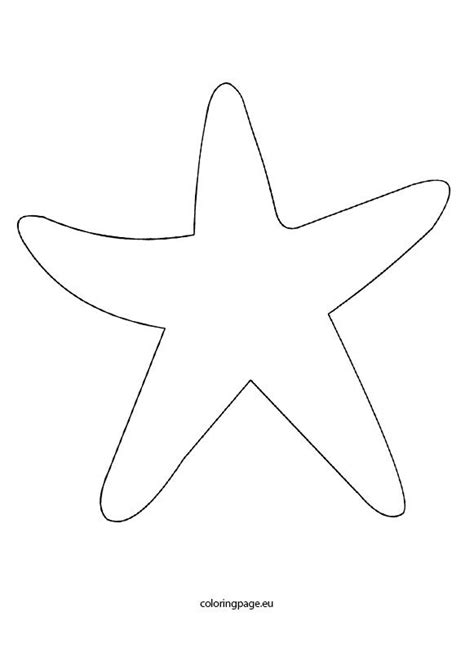 starfish coloring pages preschool best 25 starfish template ideas on pinterest beaded