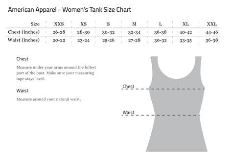 american apparel size chart motolady apparel sizing charts moto