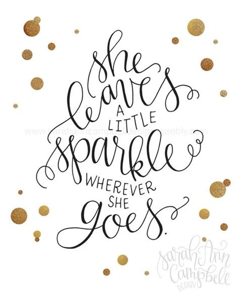 A Sparkle by She Leaves A Sparkle Print She Leaves By