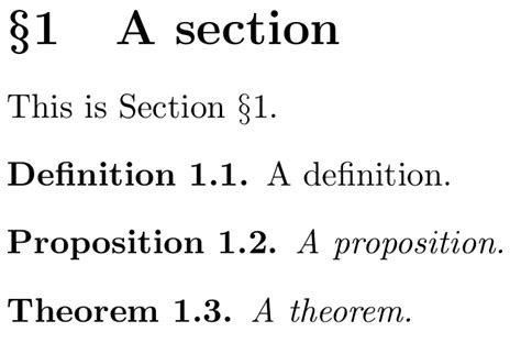 sectioning definition sectioning numbering theorems definitions together by