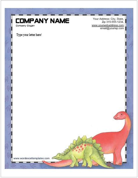 animal design letterhead templates  ms word word