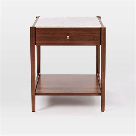 robbins mid century storage side table west elm