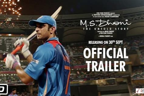 dhoni biography movie trailer witty scoop bollywood news to hollywood to television