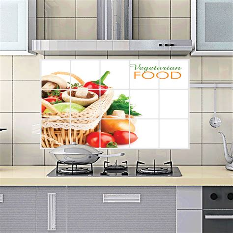 75 45cm flower kitchen wall stickers decal home decor art home decor 75 45 cm kitchen room anti oil wall sticker