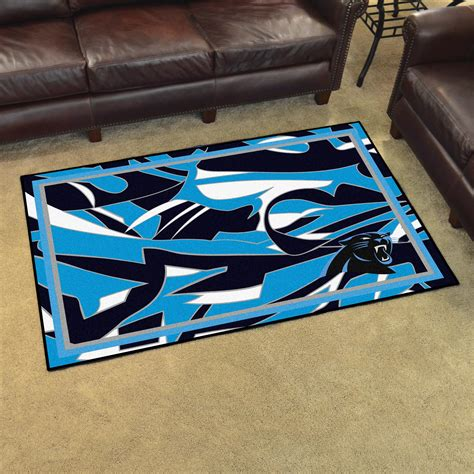 carolina panthers snap 4x6 area rug
