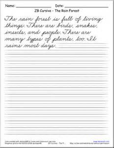 13 best images of cursive writing worksheets sentences