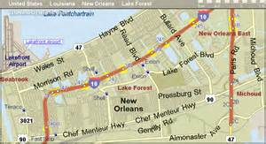 i 10 new orleans map exits and gas stations