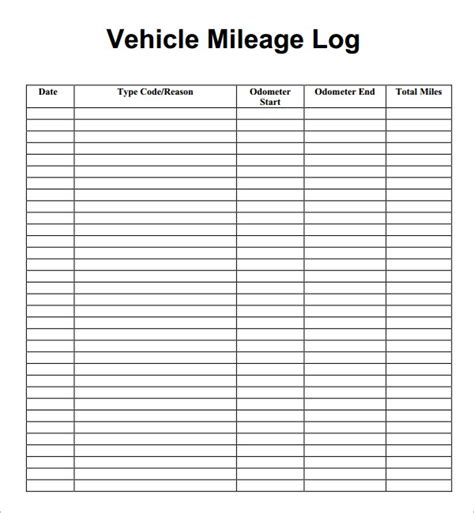irs mileage log template 7 vehicle mileage log templates word excel pdf formats