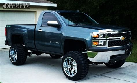 Custom Chevy Truck Wheels Wheel Offset 2014 Chevrolet Silverado 1500 Hella Stance 5