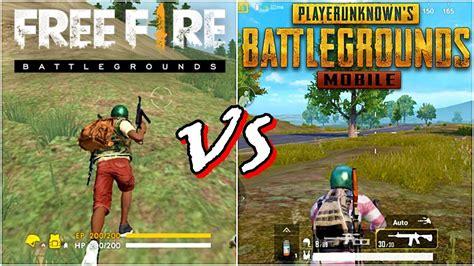 fire  pubg mobile game comparison youtube