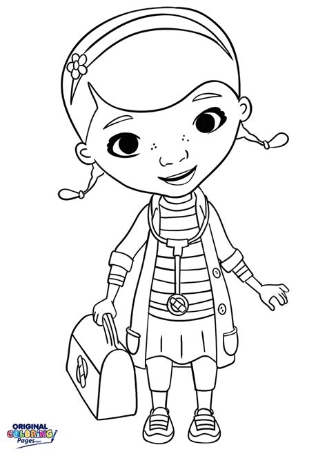 coloring pages of doc mcstuffins doc mcstuffins stethoscope and doctor bag coloring page