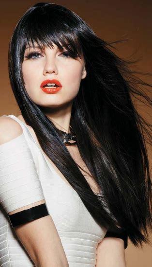black hairstyles long hair bangs 1834 best dark hair brown black hair black hair images