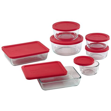pyrex glass storage containers pyrex 4 cup glass storage set with blue plastic