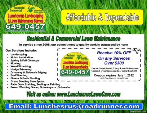 landscape flyer templates lawn care flyers templates microsoft quotes