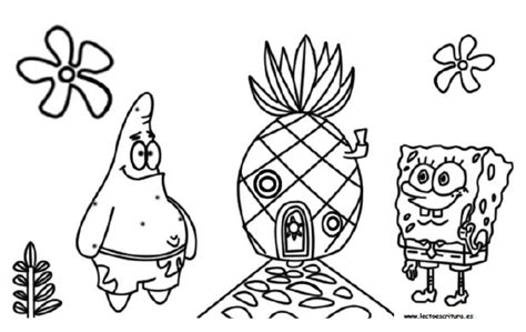 dibujos infantiles para colorear en pdf bob esponja dibujos para colorear