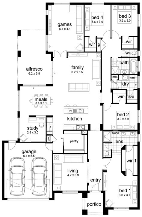 home design story room size floor plan friday 4 bedroom family home