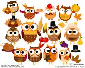 thanksgiving falls on what day 2014 thanksgiving owls digital clip art for personal and commercial