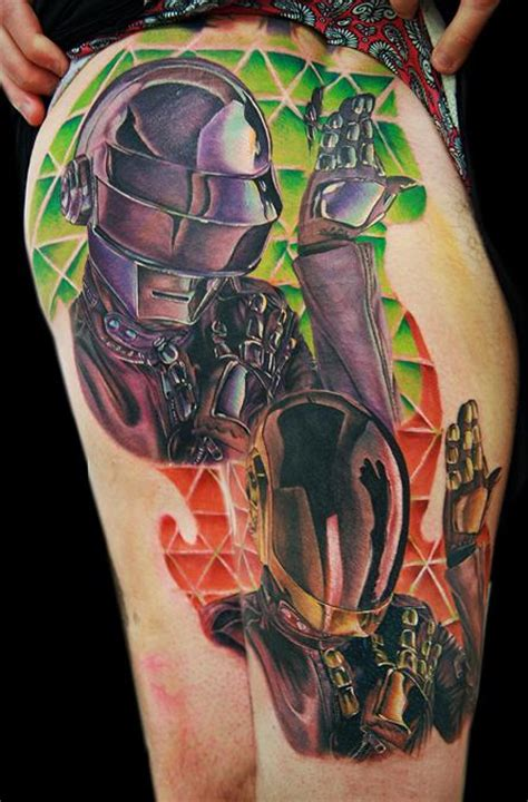 daft punk tattoo these fan tattoos totally rock the beatles guff