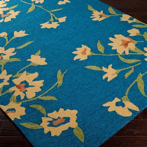 Cannes Peacock Blue Rectangle Area Rug Colors And Others Peacock Blue Area Rug
