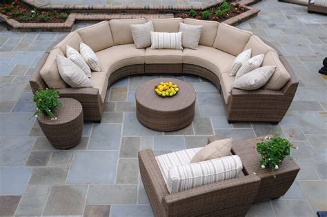 Curved Outdoor Patio Furniture Curved Wicker Patio Furniture Lloyd Flanders Contempo Curved Sectional Sofa Rattan Curved