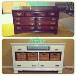 i how this turned out diy dresser into tv