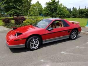 car service manuals pdf 1985 pontiac fiero engine control 1985 pontiac fiero gt 4 speed 40 700 original miles rare interior no reserve for sale