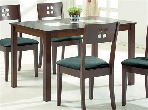 dining tables wooden modern contemporary wooden dining table with square glass inserts
