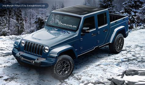 2019 Jeep Wrangler Dual Cab Ute Renderings Loaded 4x4