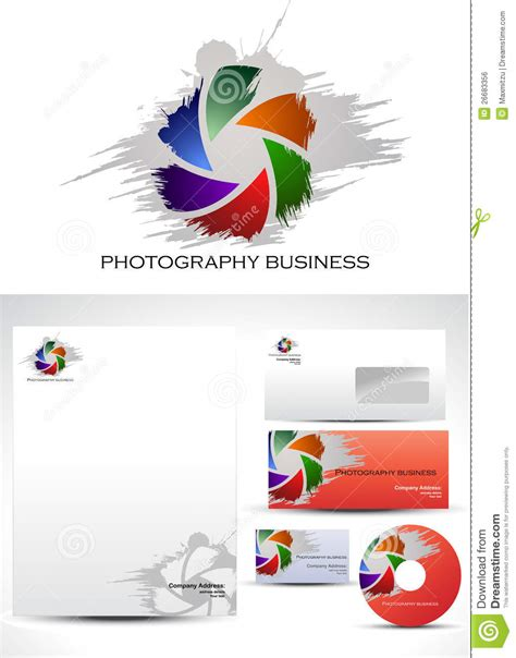 photographer design templates photography template logo design royalty free stock image