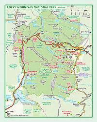 rocky mountain national park colorado map rocky mountain national park wall map by geonova