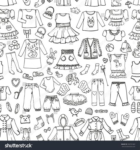 doodle design draw fashion fashion wear seamless patternbabyteenager