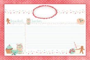 Free Christmas Recipe Card Template Printable Recipe Cards 3x5 Images