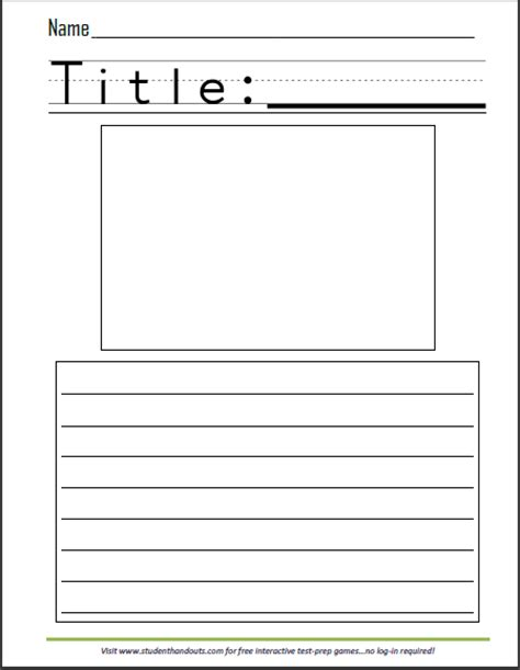 printable narrative writing paper free printable write a story sheet for kids with picture