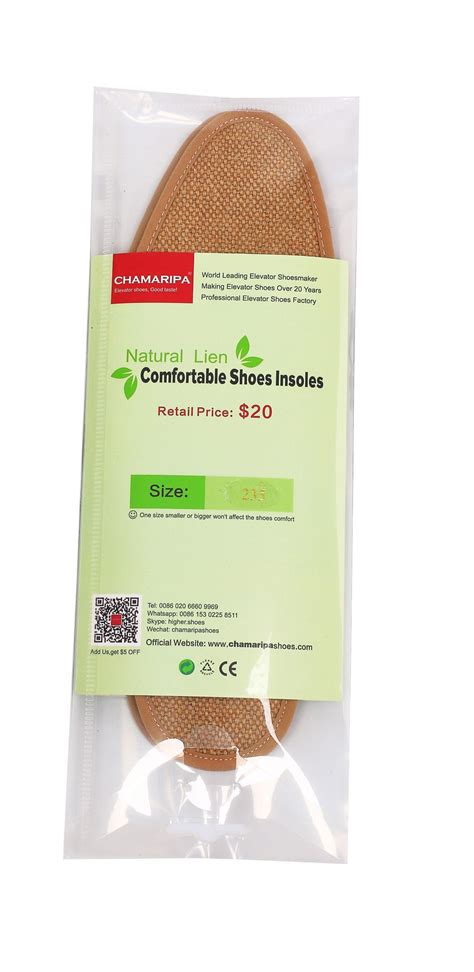 Linen Insole by Elevator Shoes Insoles Linen Comfortable Height