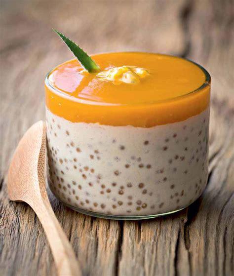 verrines de perles du japon au lait de coco hachette pratique