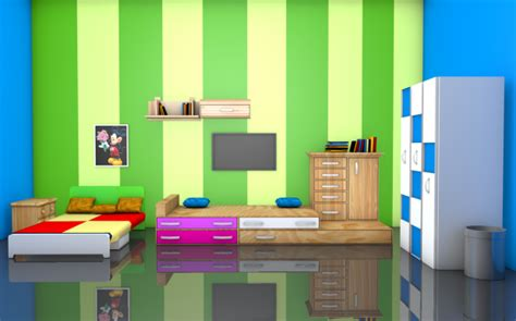 room 3d room interior 3d model obj c4d fbx