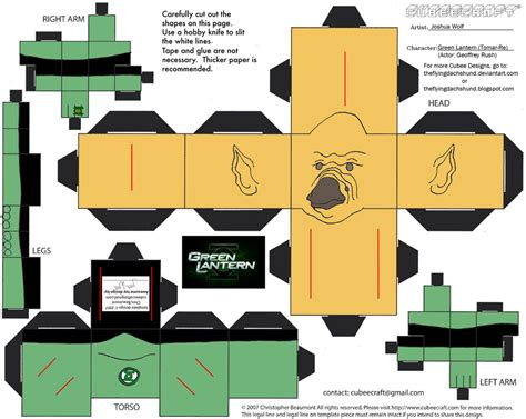 Green Lantern Papercraft - dcf8 green lantern tomar re cubee by theflyingdachshund